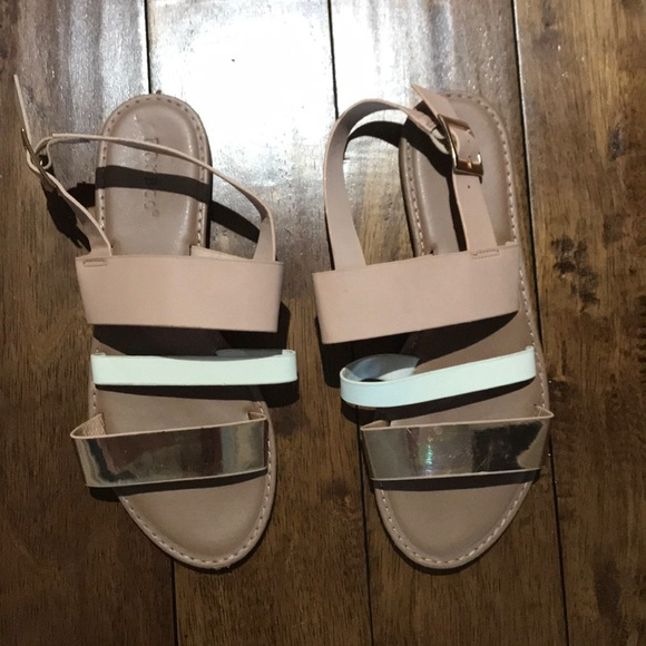 BAMBOO Shoes | Pink White Rose Gold